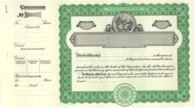Goes® 514 Ohio State Stock Certificates