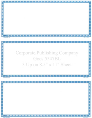 Goes® 5547BL Blue Buckle Certificates