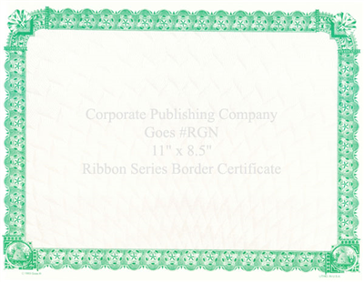 Goes® RGN Green Ribbon Certificates
