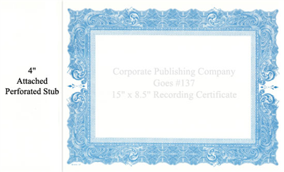 Goes® 137 Blue Antique Certificate