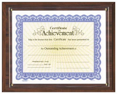 "Walnut Continental Certificate Plaque (11"" x 8.5"")"