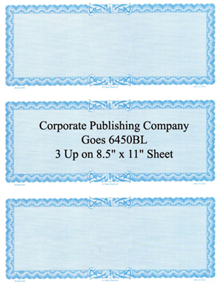 Goes® 6450BL Blue Ripple Certificates