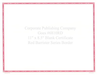 Goes® 6810RD  Red Barrister Certificates