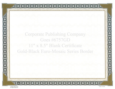 Goes® 6757GD Euro-Mosaic Certificates