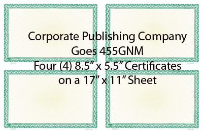 Goes® 455GN Green Ripple Certificates