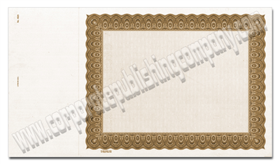 Goes® 4521 Brown Harmony Certificates