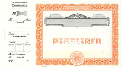 Goes® 729 Orange Panel No Text Preferred Notice