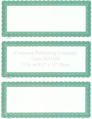 Goes® 5631GN Green Harmony Certificates