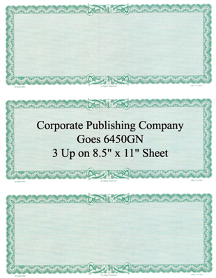Goes® 6450GN Green Ripple Certificates