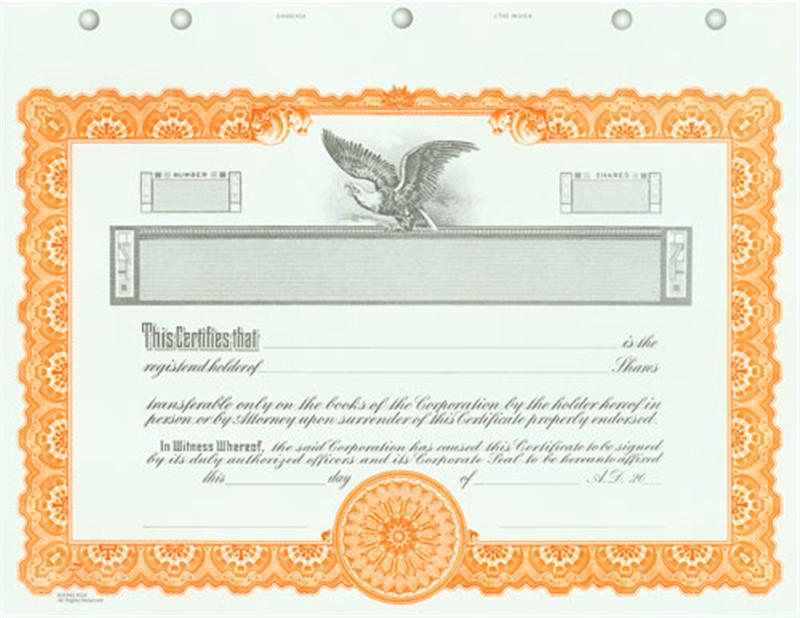 Custom Printed Goes KG4 Certificates
