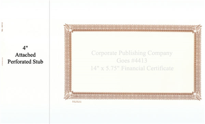 Goes® 4413 Brown Six Point Certificates