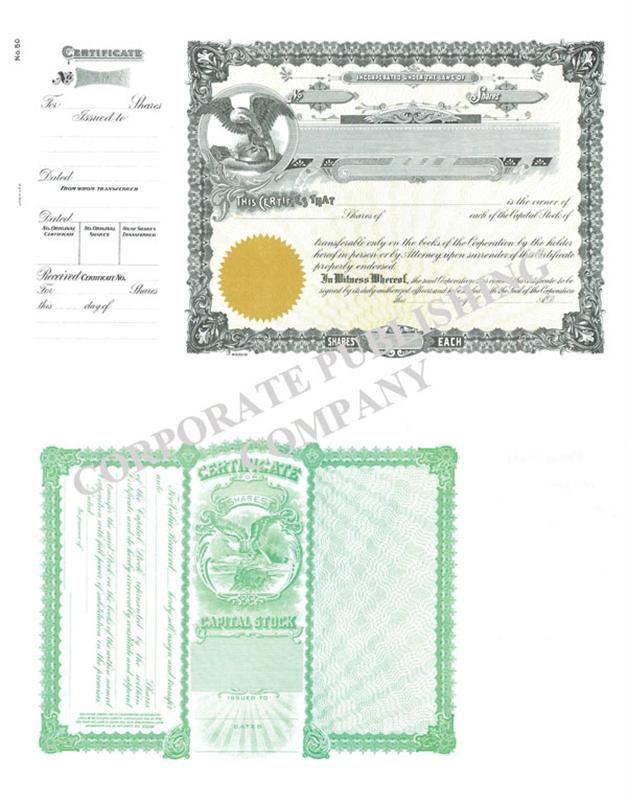 Goes 50 stock certificate goes 050 black digital gold yadclub Images