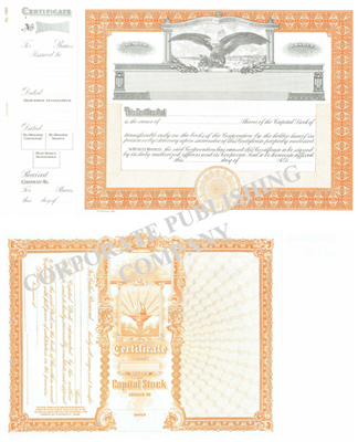 Goes® 1365 Eagle Capital Stock Certificate