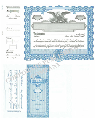 Goes® 1388 Blue Eagle Capital Stock Certificate
