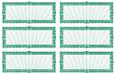 Goes® 406M6 Green Versailles Certificates