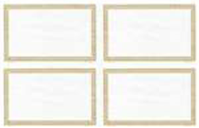 Goes® 2458M4 Laser Gold Ripple Certificates