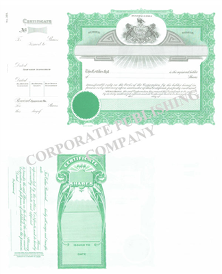 Goes® 385 Pennsylvania State Stock Certificates