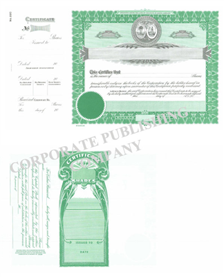 Goes® 220  South Carolina State Stock Certificate